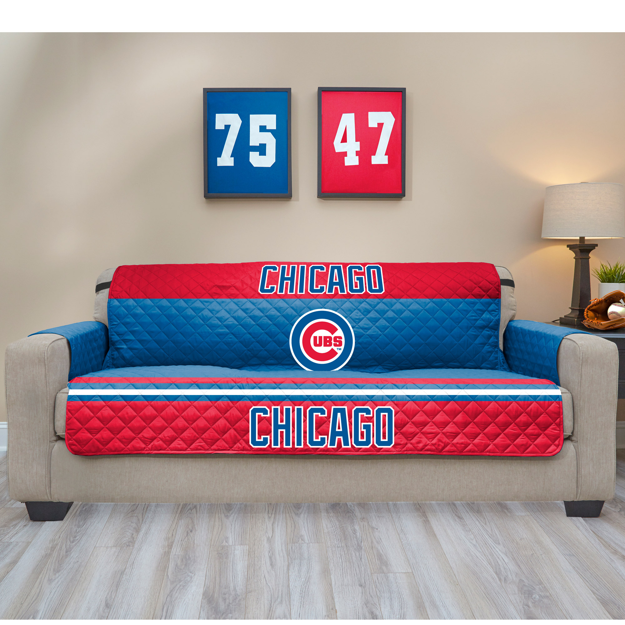 Chicago Cubs Sofa Protector - Blue - No Size