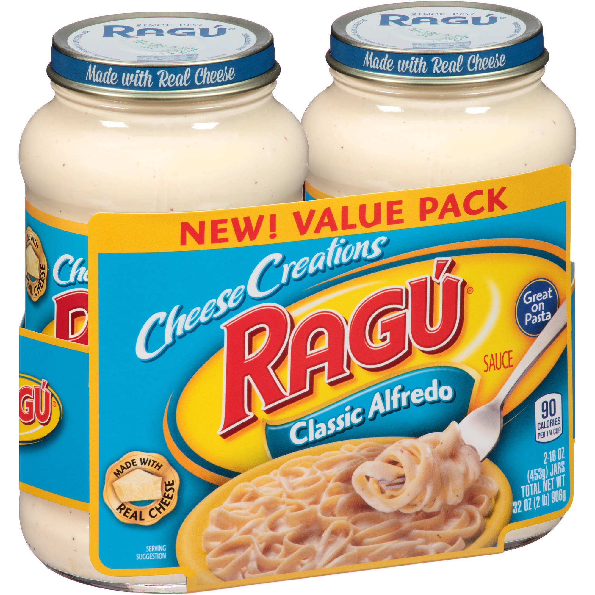 Ragu Cheese Creations Classic Alfredo Sauce, 16 oz, (Pack of 2)