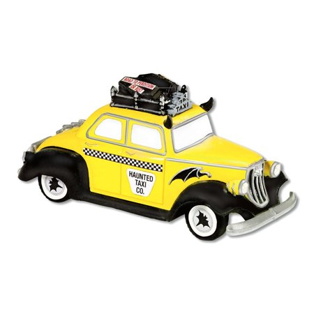 Department 56 Snow Village Halloween 56.53213 Haunted Taxi Accessory - Easy Taxi Halloween