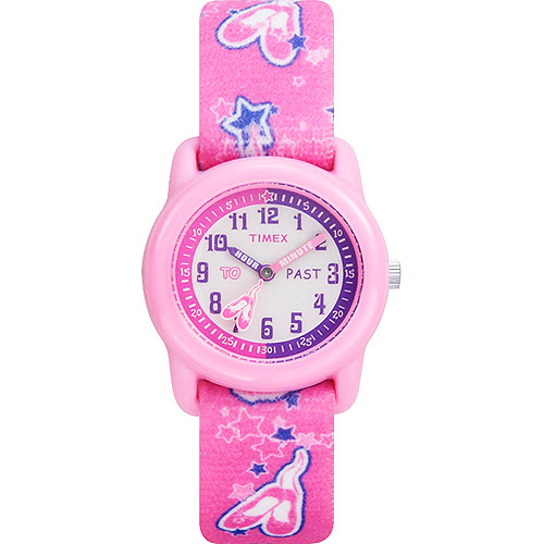 Timex Kids Pink Analog Watch, Ballerina Elastic Fabric Strap