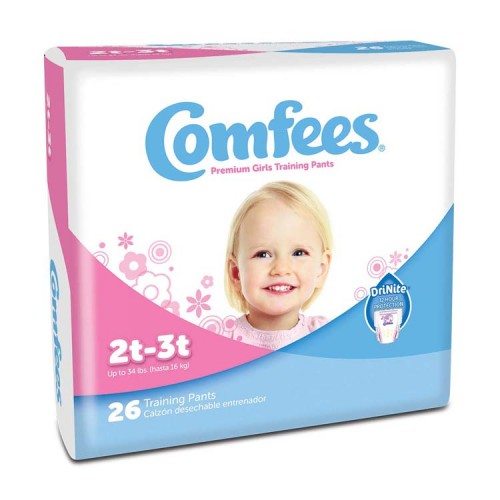 Comfees Girl Training Pants - Size 2T-3T Part No. CMF-G2 Qty  Per Package