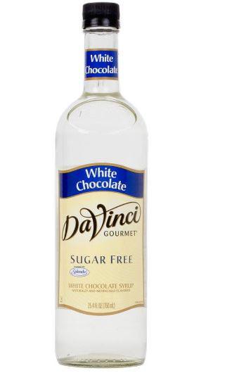Da Vinci Sugar Free Syrup, White Chocolate, 750 mL (Glass) by Kerry