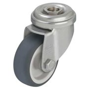 GRAINGER APPROVED Kingpin Swivel Caster,Therm Rubber,4 in,154 lb,Gry, LRA-TPA 100G