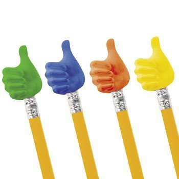 Thumbs Up Pencil Toppers - Stationery & Pencil Accessories](Fidget Pencil Toppers)