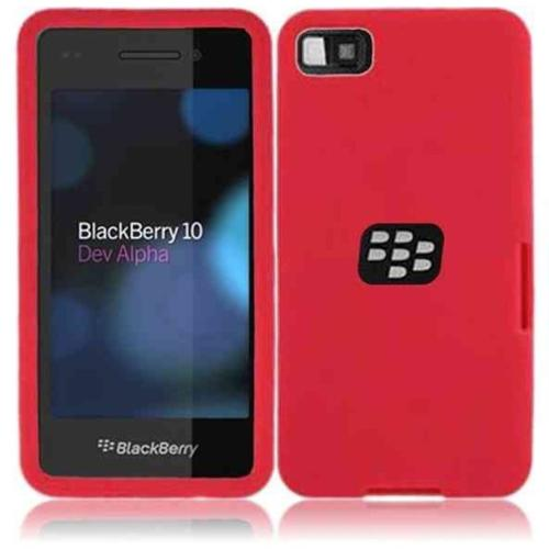 Insten Silicone Skin Case Cover For BlackBerry Z10 (Red)