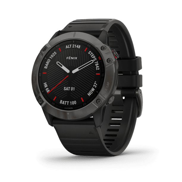 Garmin Pro Solar Titanium Carbon Gray DLC with Black Band