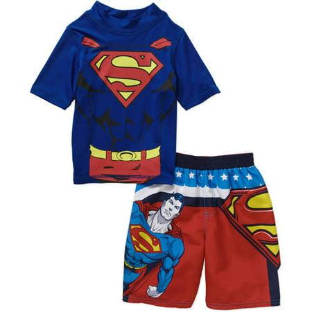 4de30148c3 DC - Toddler Boy Swim Set with Swim Short and Rash Guard - Walmart.com