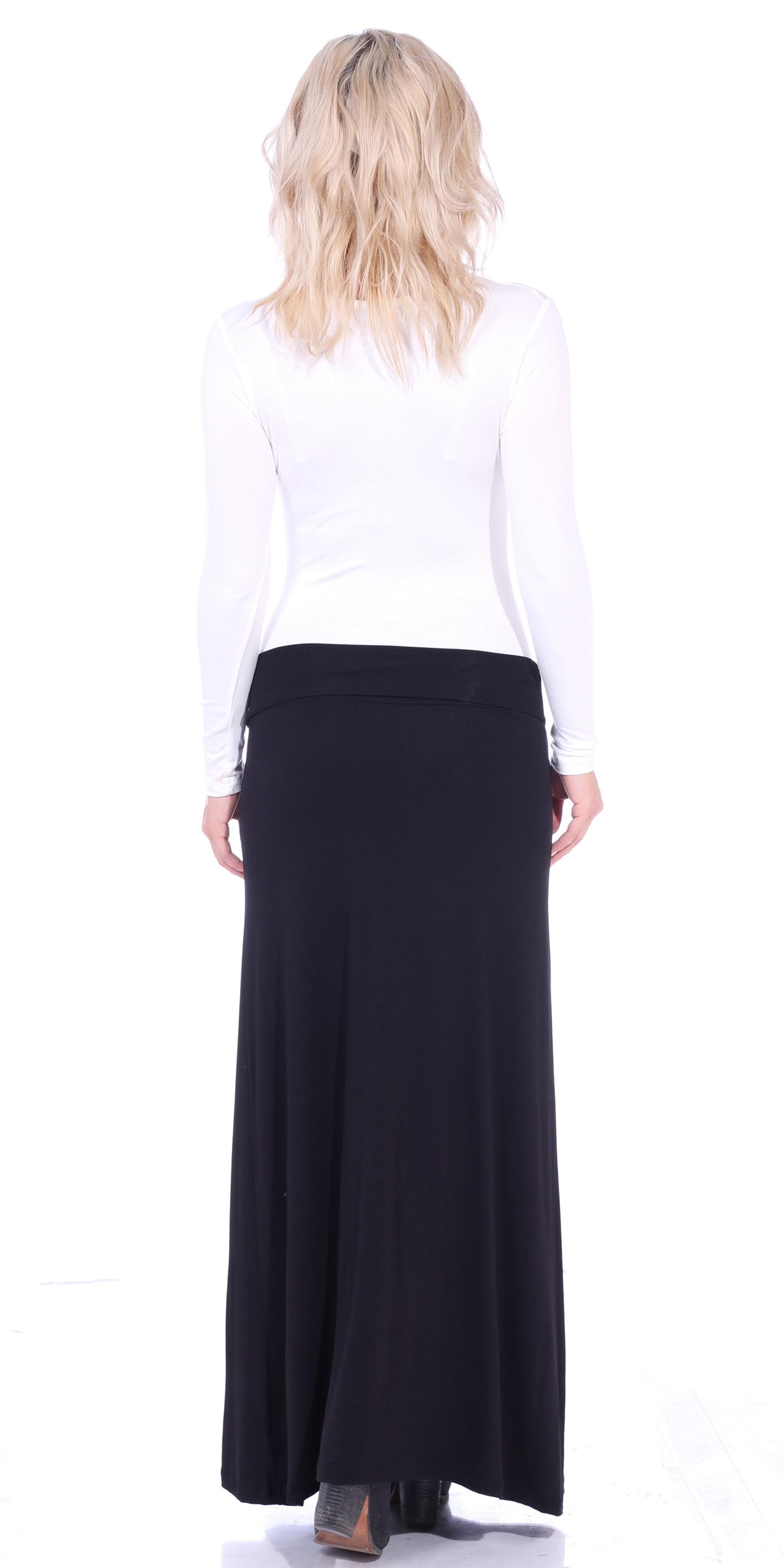 cc8d62db994411 Flowy Maxi Skirt Black – DACC