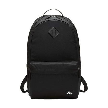 58ed1db159 Nike BA5727-010  SB Icon Obsidian Black White Backpack - Walmart.com