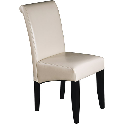 Metro Parsons Chair, Cream Leather