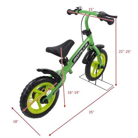 Goplus 12'' Green Kids Balance Bike Children Boys & Girls with Brakes and Bell Exercise - image 1 de 9