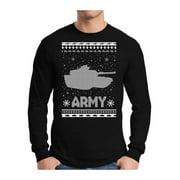 Awkward Styles Xmas Army Ugly Christmas Sweater Long Sleeve Tshirt For Men