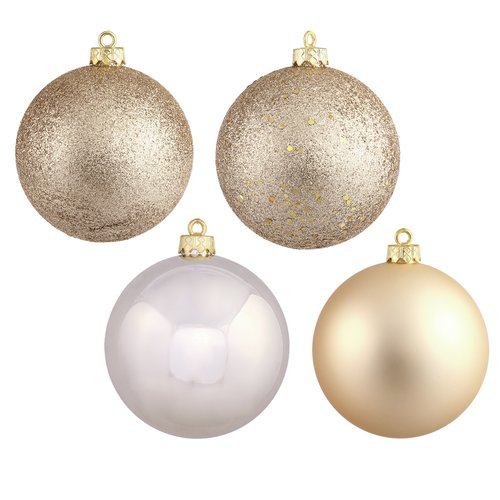 The Holiday Aisle Christmas Ball Ornament with Cap (Set of 18 ...