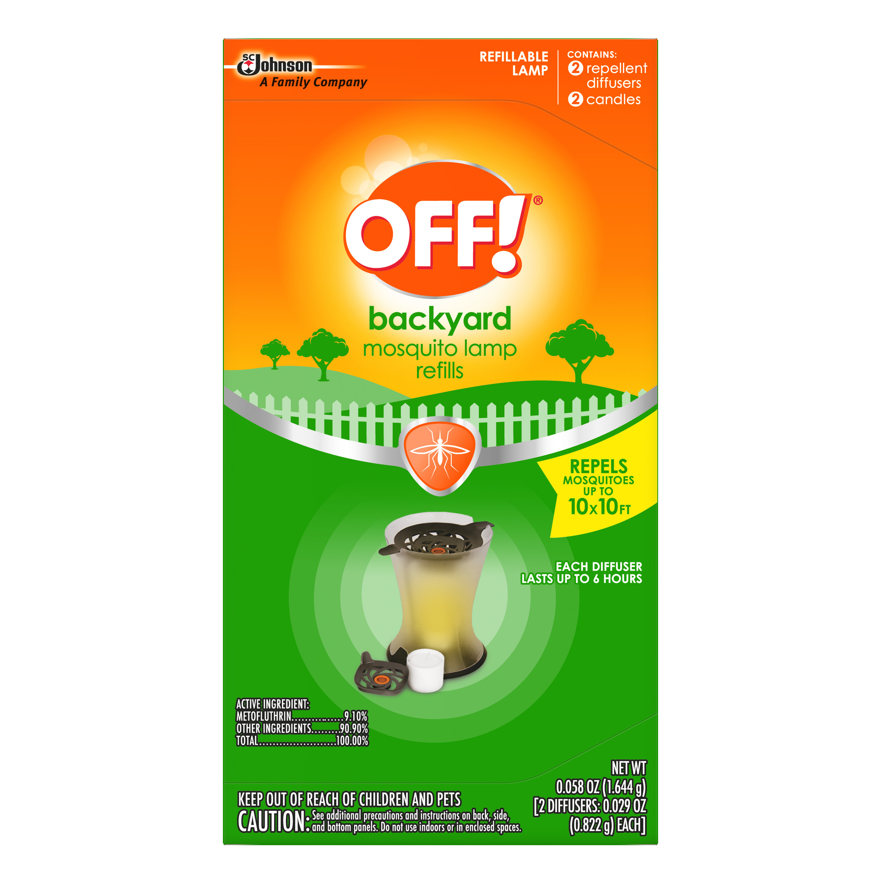 OFF! Mosquito Lamp Refills (2 count, 0.058 Ounces)