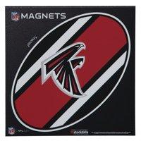 "Atlanta Falcons Stripe 6"" x 6"" Oval Full Color Magnet"