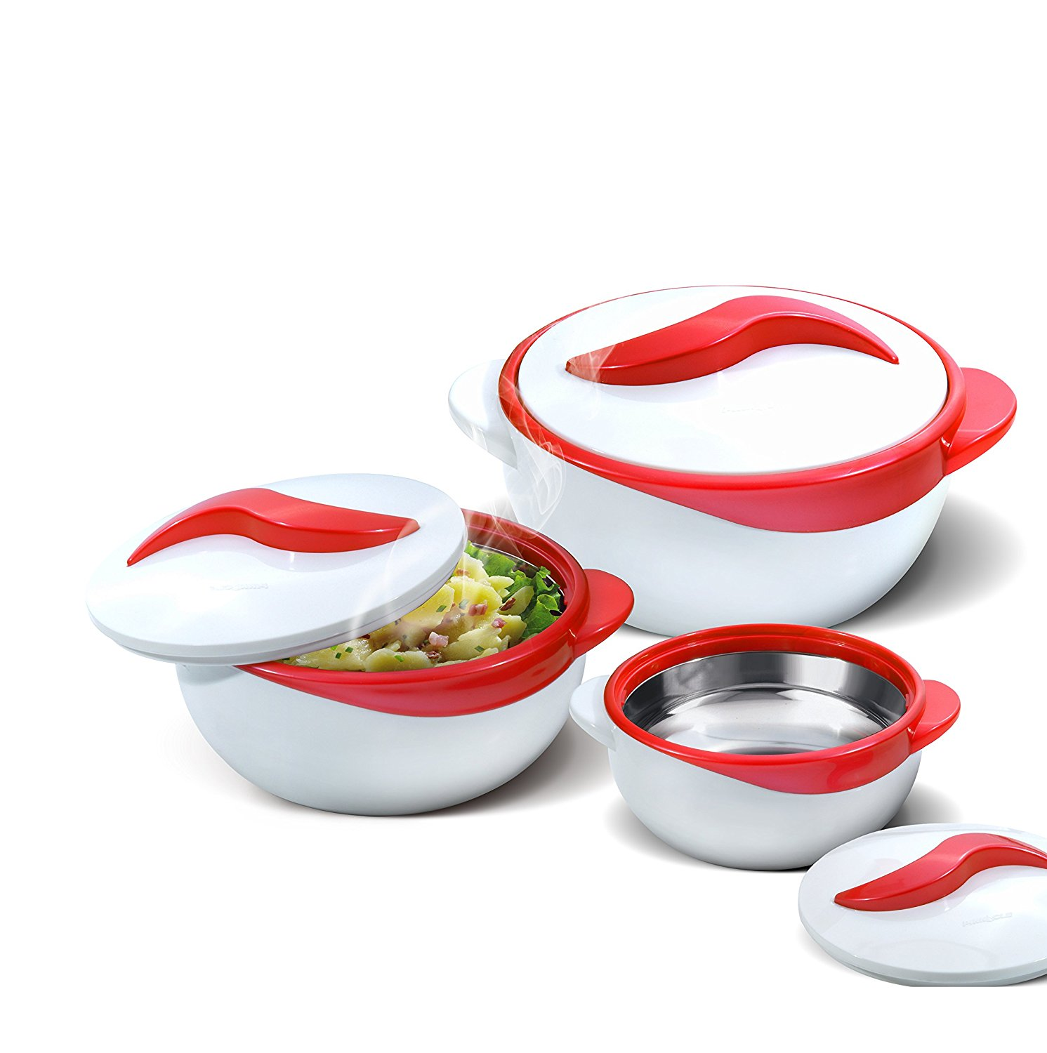Set of 3 Thermo Dish Hot or Cold Casserole Serving Bowls ...