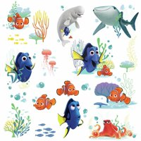 Disney Pixar FINDING DORY Nemo Bailey Fish Wall Decals Tropical Bathroom Stickers
