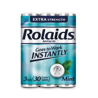 Rolaids 3 Roll Packs Extra Strength Tablets (3 x 10 Ct, Mint)