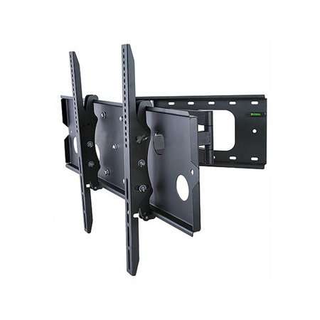 Large Fluorescent Wall Mount (Titan Series Corner Friendly Full Motion Wall Mount for Large 32- 60 inch TVs 125lbs Black )