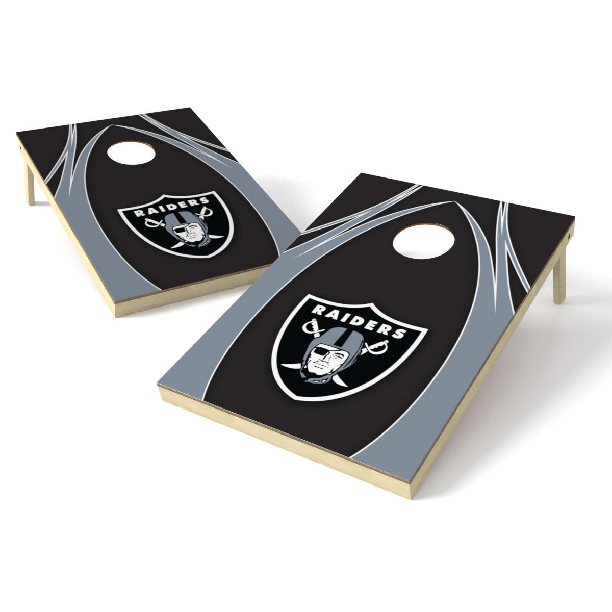 2x3 Shield Game NFL V Logo Oakland Raiders