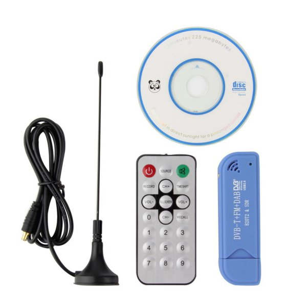 Digital TV Receiver Stick USB 2.0 Software Radio DVB-T RTL2832U+R820T2 SDR Receiver Stick
