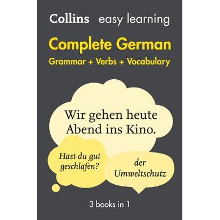 Complete German Grammar Verbs Vocabulary : 3 Books in