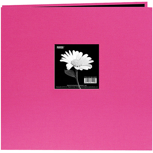"""Book Cloth Cover Postbound Album With Window, 8"""" x 8"""""""
