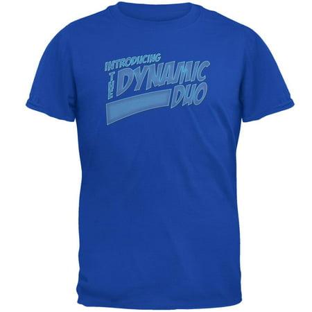 Dynamic Duo Funny Comic Book Royal Adult T-Shirt ()