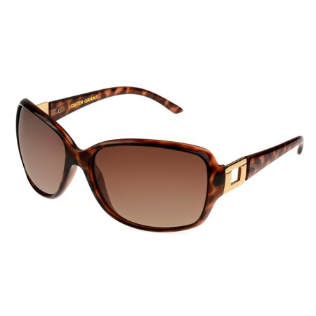 Foster Grant Women's Tort Rectangle Sunglasses (Tort Sunglasses)