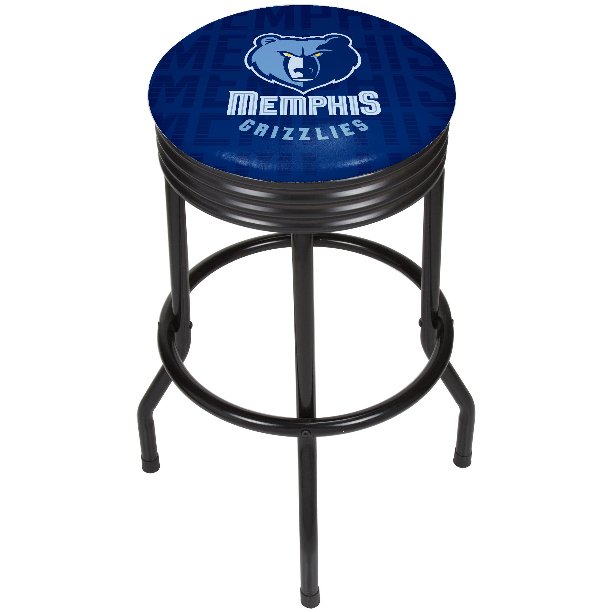 NBA Black Ribbed Bar Stool - City - Memphis Grizzlies