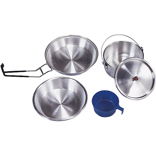 Mess Kit, Heavy Duty Aluminum, Polished by Stansport