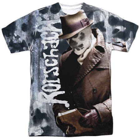 Rorschach Watchmen Costume (Watchmen Men's  Rorschachs Journal Sublimation T-shirt)