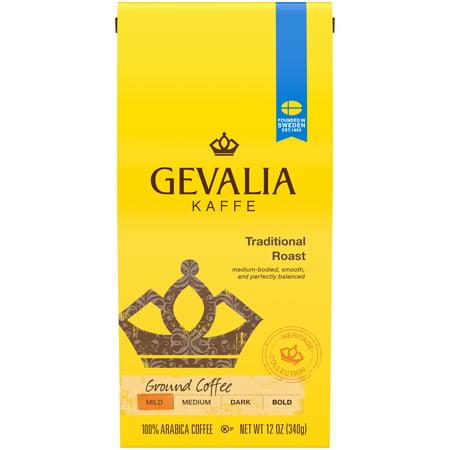 Gevalia Traditional Roast Ground Coffee, 12 oz - Rectangle Traditional Coffee