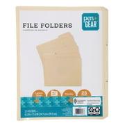 PEN+GEAR File Folders, 1/3 Tabs, Manila, Letter, 25 per Pack