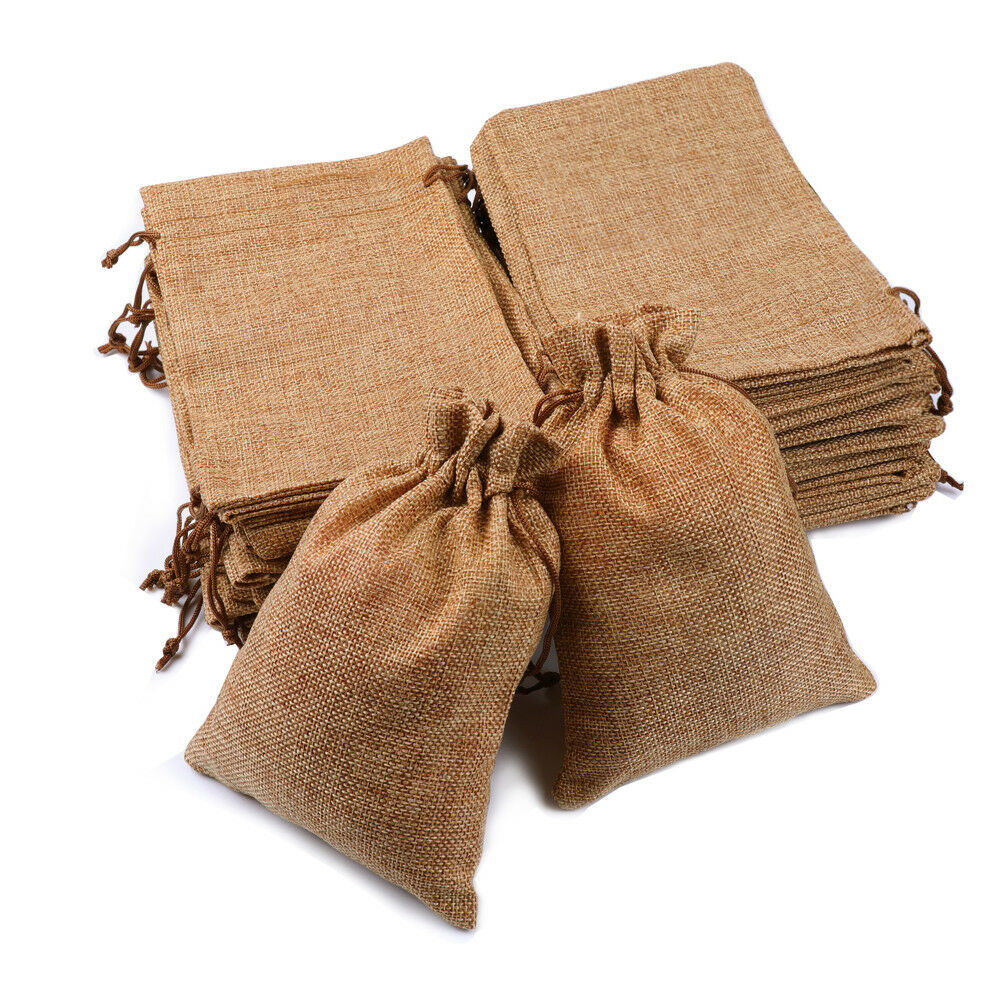Jute//Hessian Drawstring//Gift//Party//Storage Bags