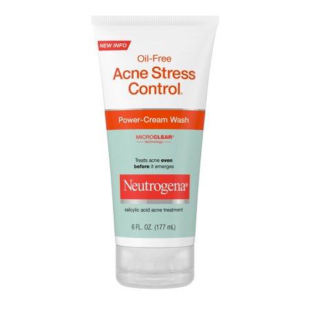Neutrogena Oil-Free Acne Wash Cream Facial Cleanser, Acne Prone Skin, Acne Fighting, 6 fl oz