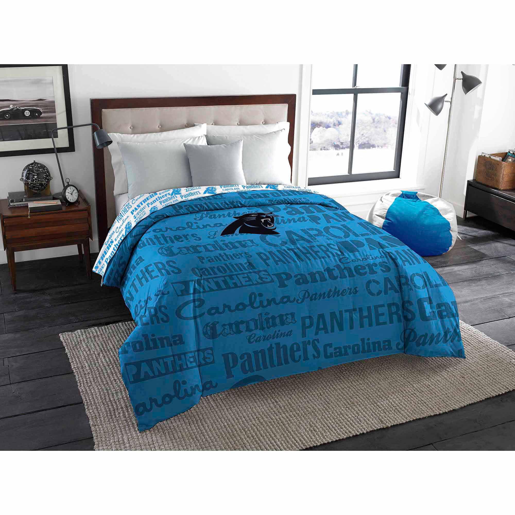 Marvelous NFL Carolina Panthers Twin/Full Bedding Comforter   Walmart.com
