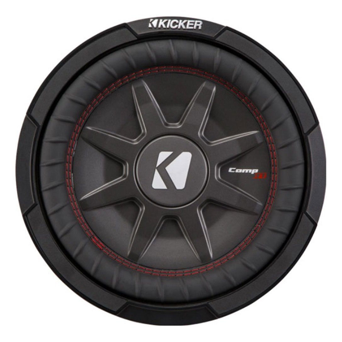 Kicker CompRT Single 12 Inch 1000 Watt Max Dual 2 Ohm Shallow Slim Car Subwoofer
