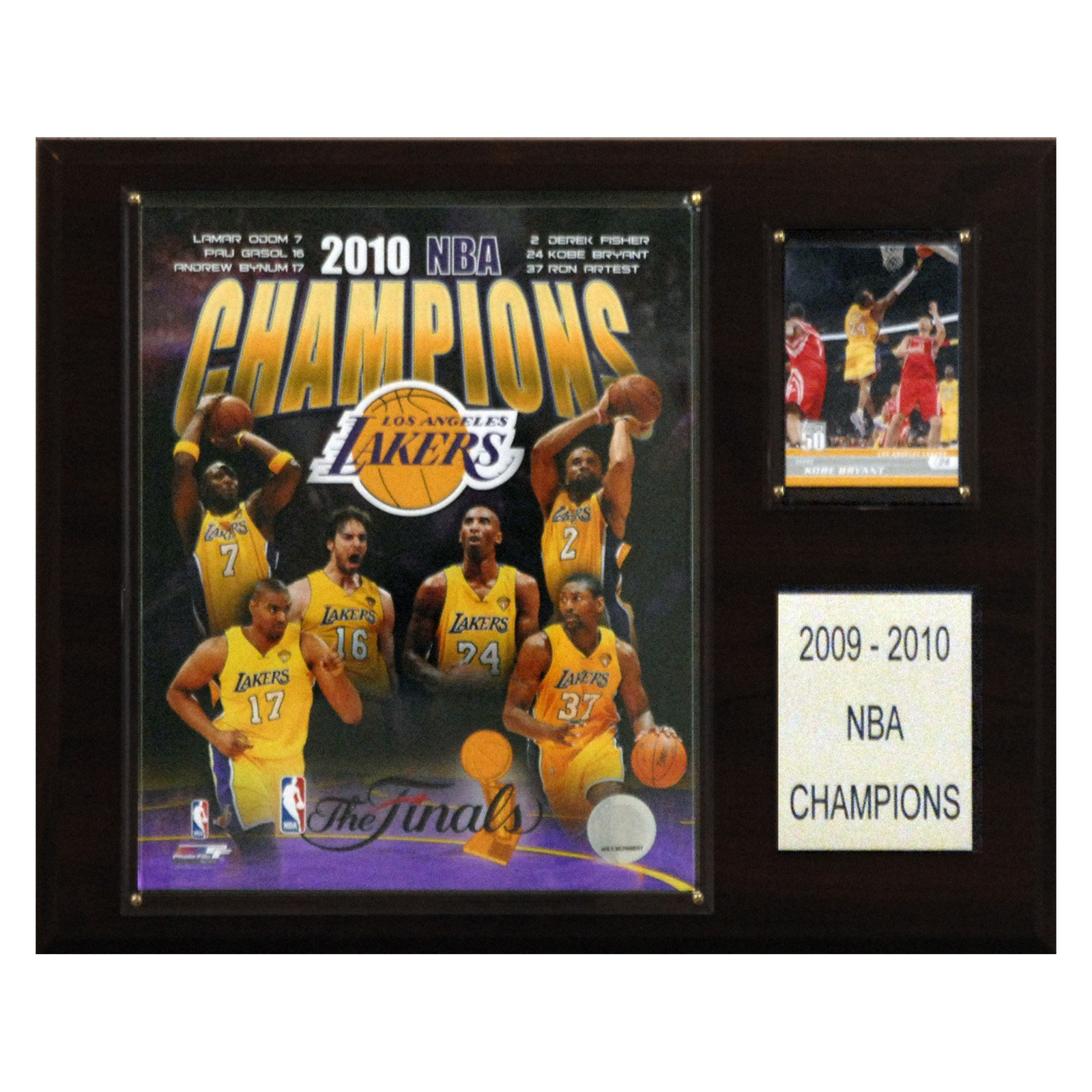 C&I Collectables NBA 12x15 Los Angeles Lakers 2010 NBA Champions Plaque