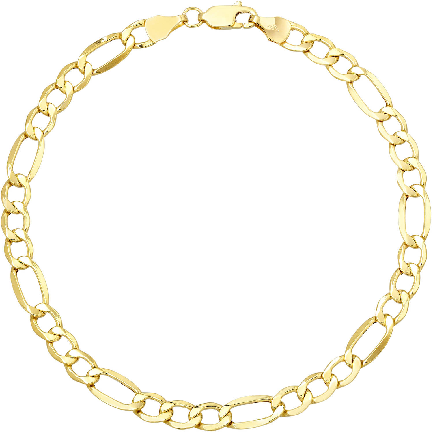 Simply Gold 10kt Yellow Gold Figaro Chain-Style Bracelet, 8