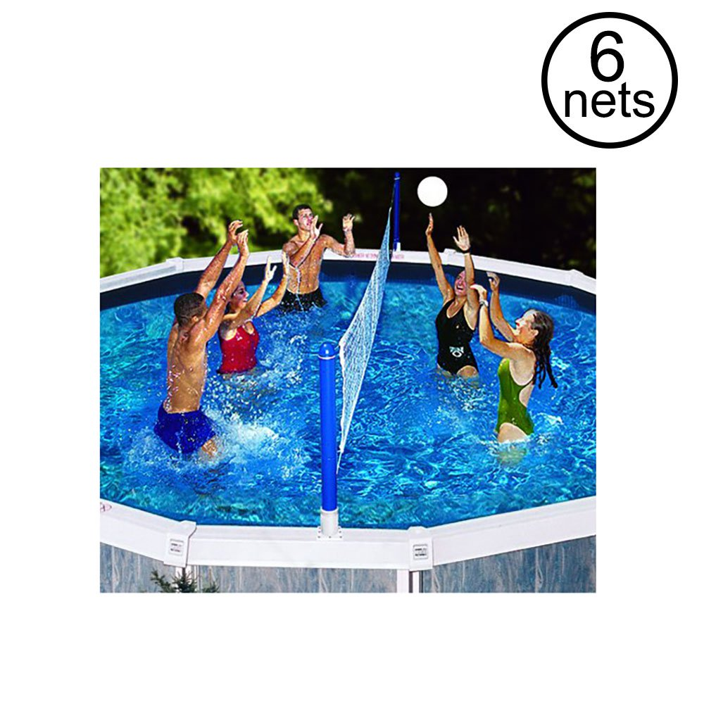 Swimline Outdoor Above Ground Swimming Pool Volleyball Game Sport Net 6 Pack