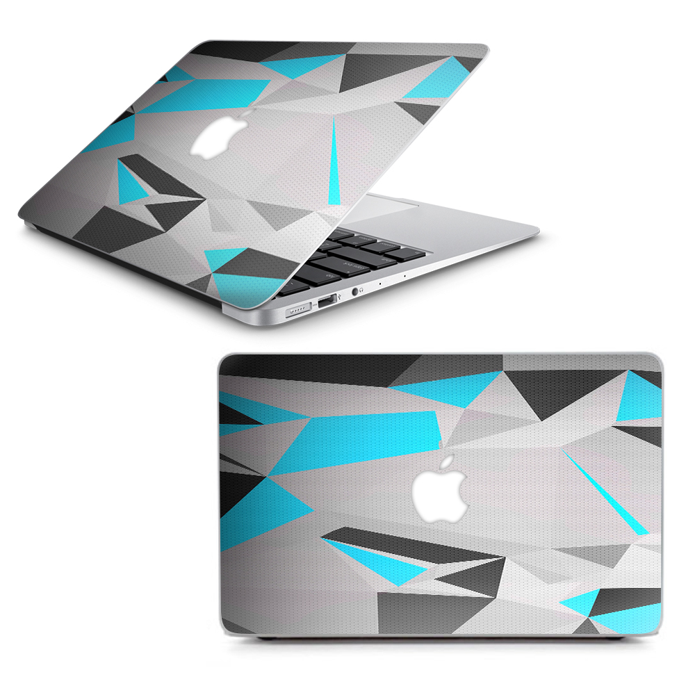 "Skins Decals for MacBook Air 13"" A1369 A1466 / Baby Blue Grey Glass Design"