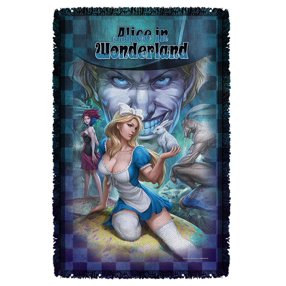 Zenescope Alice Woven Throw Tapestry 36X60 White One Size
