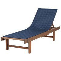 """Classic Accessories Montlake™ FadeSafe® Patio Chaise Lounge Slipcover - Water Resistant Outdoor Furniture Cover, 80""""L x 26""""W, Heather indigo"""