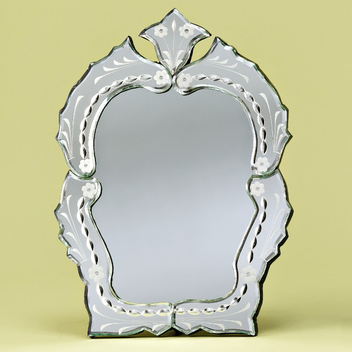 Venetian Gems Queen Vanity Venetian Table Mirror