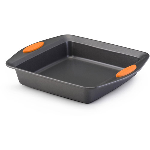 Rachael Ray Yum-o Square Nonstick Cake Pan in Gray and Orange