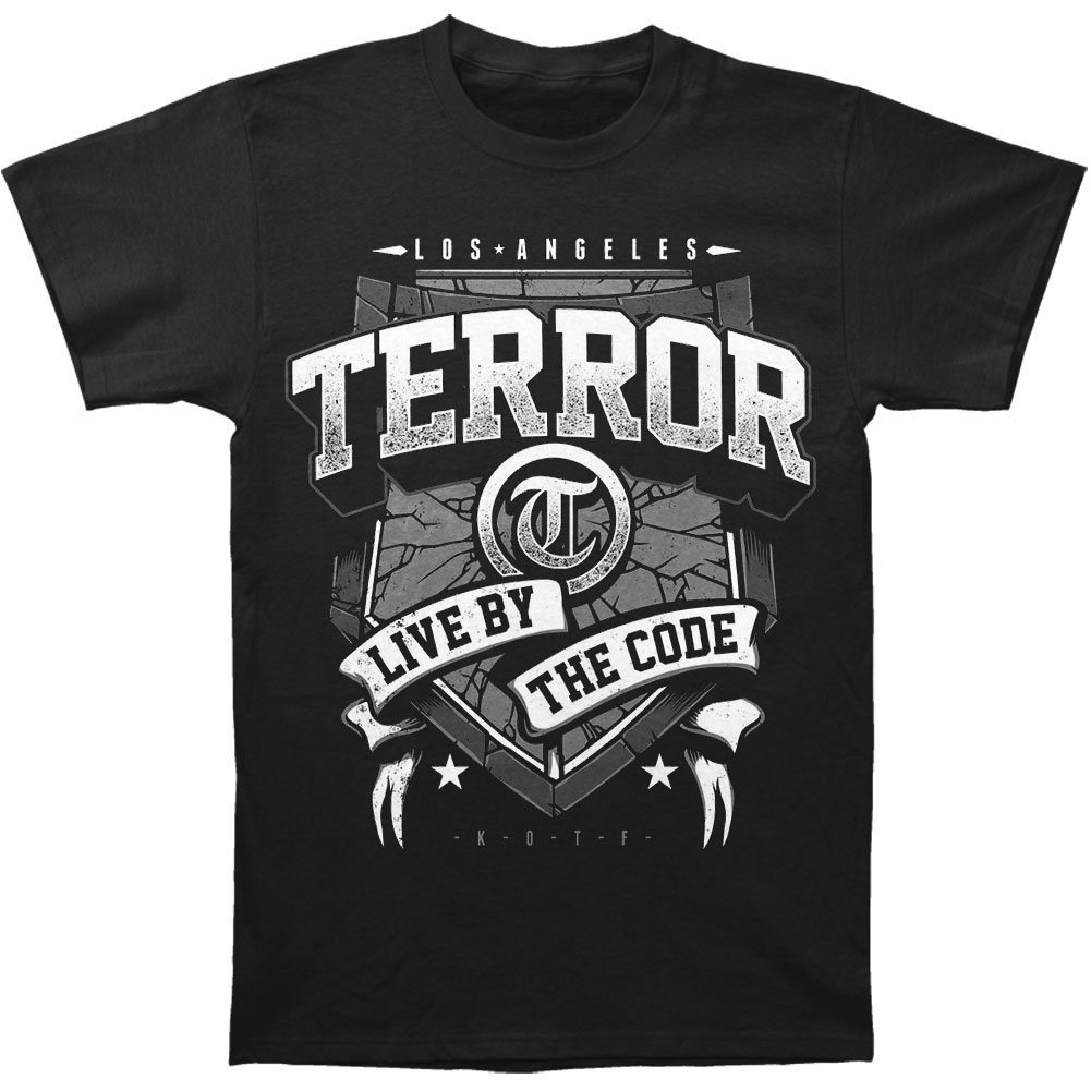 Terror Men's  Banner T-shirt Black