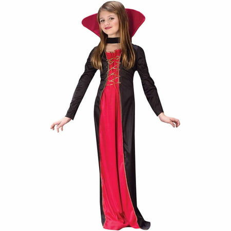 Victorian Vampiress Child Halloween Costume - Quick Easy To Make Halloween Costumes