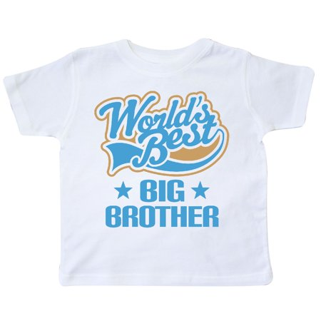 Inktastic Worlds Best Big Brother Toddler T Shirt Bro Gift Siblings Childs Boys