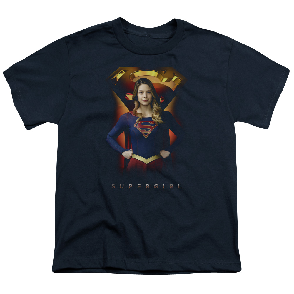 Supergirl Standing Symbol Big Boys Shirt